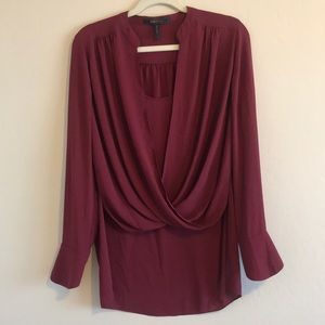 BCBG Red Blouse - size small